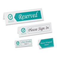 Small Textured Tent Cards, White, 1 7/16 x 3 3/4, 6 Cards/Sheet, 150/Box