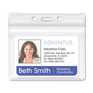 Resealable ID Badge Holder, Horizontal, 3 3/4 x 2 5/8, Clear, 50/Pack