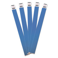Crowd Management Wristbands, Sequentially Numbered, 10 x 3/4, Blue, 500/Pack