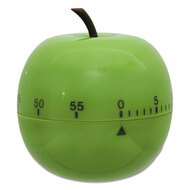 """Shaped Timer, 4 1/2"""" dia., Green Apple"""
