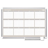 12 Month Year Planner, 36x24, Aluminum Frame