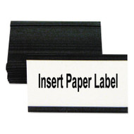 """Magnetic Card Holders, 3""""w x 1 1/4""""h, Black, 10/Pack"""