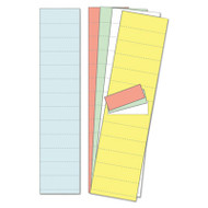 """Data Card Replacement, 2"""" w x 1""""h, Assorted Colors, 1000/Pack"""