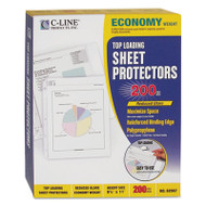 """Economy Weight Poly Sheet Protector, Reduced Glare, 2"""", 11 x 8 1/2, 200/BX"""