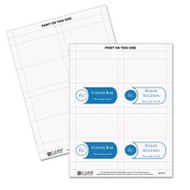 Scored Tent Cards, White Cardstock, 3 1/2 x 2, 4/sheet, 40 sheets/BX