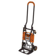 2-in-1 Multi-Position Hand Truck and Cart, 16 5/8 x 12 3/4 x 49 1/4, Gray/Orange