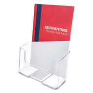 DocuHolder for Countertop or Wall Mount Use, 6 1/2w x 3 3/4d x 7 3/4h, Clear
