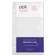 Business Card Holders for Looseleaf Planners, 3 3/4 x 6 3/4, 5/Pack