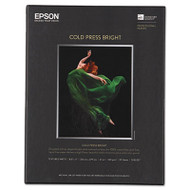Cold Press Bright Fine Art Paper, 8-1/2 x 11, Bright White, 25 Sheets