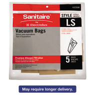 Commercial Upright Vacuum Cleaner Replacement Bags, Style LS, 5/Pack