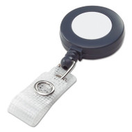 Badgemates Plastic Retractable Name Badge Reel, 3 ft Extension, Gray, 25/Box