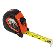 """Sheffield ExtraMark Tape Measure, Red with Black Rubber Grip, 1"""" x 25 ft"""