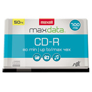 CD-R Discs, 700MB/80min, 48x, Spindle, Silver, 50/Pack