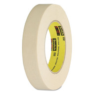 "232 High-Performance Masking Tape, 12mm x 55m, 3"" Core, Tan"