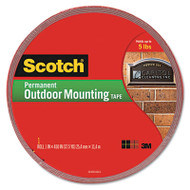 """Exterior Weather-Resistant Double-Sided Tape, 1"""" x 450"""", Gray"""