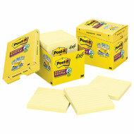 Canary Yellow Note Pads, Lined, 4 x 4, 90-Sheet, 12/Pack