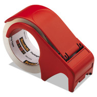 """Compact and Quick Loading Dispenser for Box Sealing Tape, 3"""" Core, Plastic, Red"""