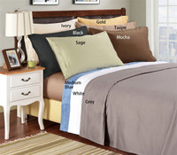 Egyptian Cotton 1500 Thread Count Solid Pillowcase Sets - King