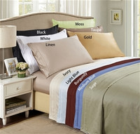 Egyptian Cotton Solid 650 Thread Count Queen Waterbed Sheet Set