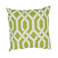 "Jaipur Veranda Throw Pillow 20"" x 20"" - Classic Green"