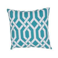 "Jaipur Veranda Throw Pillow 20"" x 20"" - Light Blue"