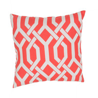 "Jaipur Veranda Throw Pillow 20"" X 20"" - Red"