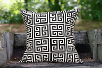 "Amy Black 18"" Pillow"