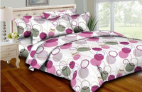Circle & Strings - Pink Bedding  Set