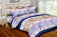 Watercolor Zig Zags Bedding Set