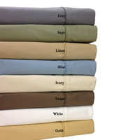 "Combed Cotton Blend 650 Thread Count 22"" Deep Pocket California King Sheet Set"