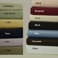 100% Combed Cotton 300 Thread Count Solid Standard/Queen Set of 2 Pillowcases