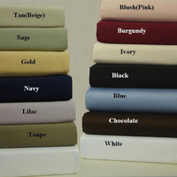 100% Combed Cotton 600 Thread Count Solid Standard/Queen Set of 2 Pillowcases