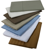 100% Combed Cotton 300 Thread Count Striped Pillowcases