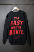 What Monsters Do Too Fast Crewneck White Print