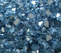 "1/4"" Fire Glass Pacific Blue 10 lb. bag"