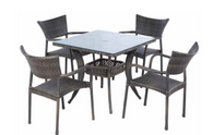 Tutto Outdoor Furniture Set 2 All-Weather Wicker Double Mocha