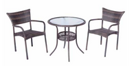 Tutto Outdoor Furniture Set 3 All-Weather Wicker Double Mocha