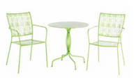 Martini Iron Bistro Set Keylime