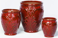 Bordeux Red Pagent Planter - Set of 3