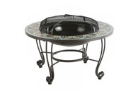 "LeMans 33.5"" Round Wood Burning Fire Pit Table"