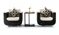 Renava Patio 2 Armchairs with Side Table