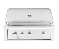 "Alturi 36"" Built-in Grill Red Brass Burners Liquid Propane"