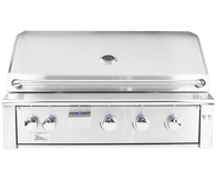 "Alturi 42"" Built-in Grill Red Brass Burners Liquid Propane"