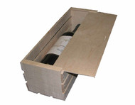 Single bottle wine crate with slide off lid