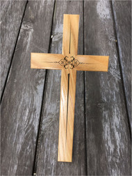 Oak Cross with Diamond Overlap - 12''