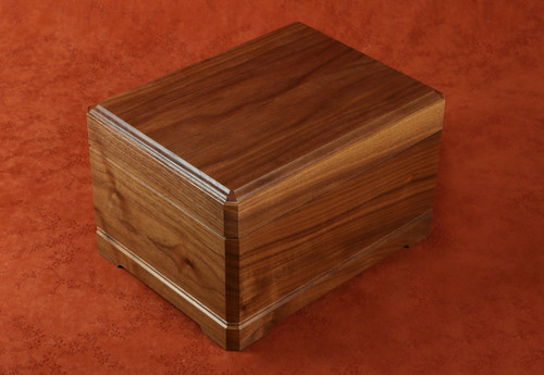 Ensign military medal box in Walnut wood