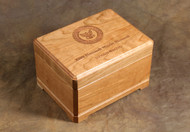 Military medal box in Cherry wood
