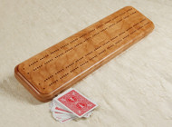 Cherry Cribbage board is durable and long-lasting
