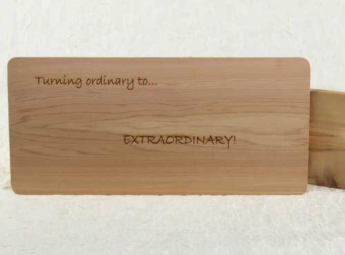 Cedar Grilling Planks - available in 2 different sizes, shown with personalization
