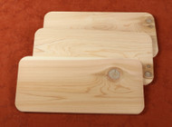 "Cedar Grilling Planks - measure 5x11"" and come in a set of 3"